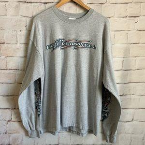Harley Davidson USA Shirt, Long Sleeve, XL